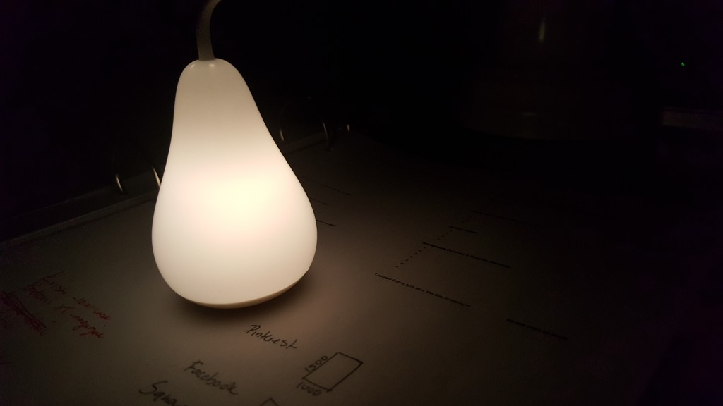 The perfect nighttime task light for beginning bloggers