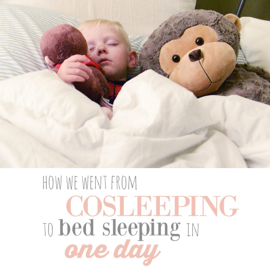 Cosleeping to bed transition in one day