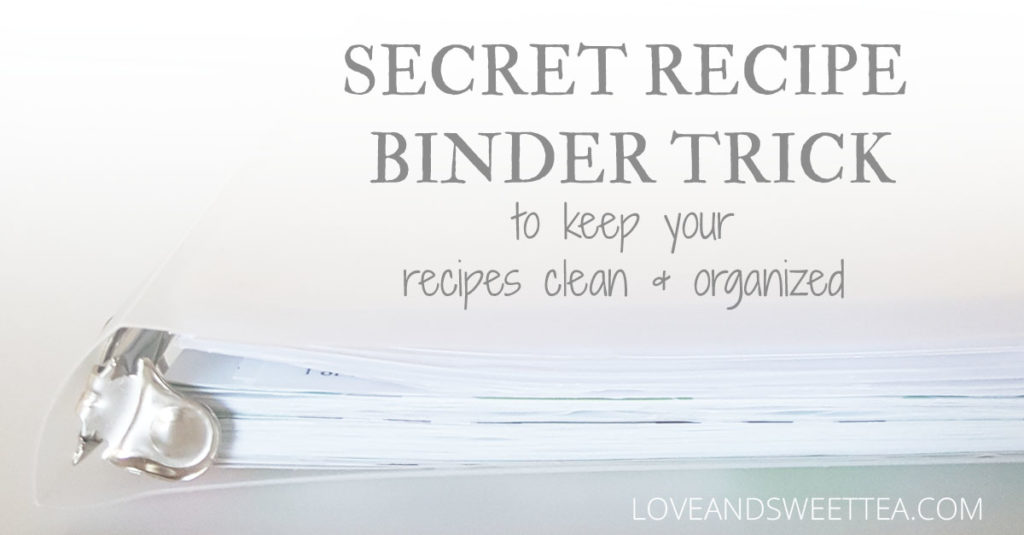 Secret recipe binder trick to keep your recipes organized and clean