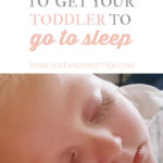 An easy way to get toddler to sleep