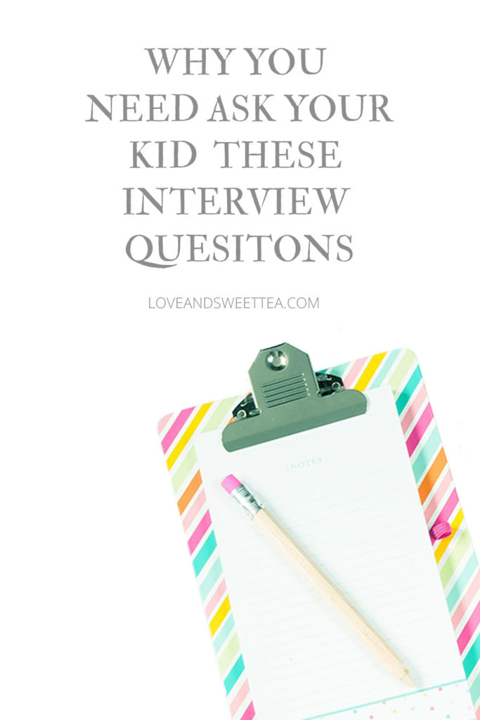 ask your kid interview questions