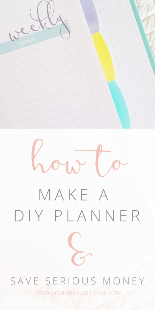 how to make a diy planner for bloggers