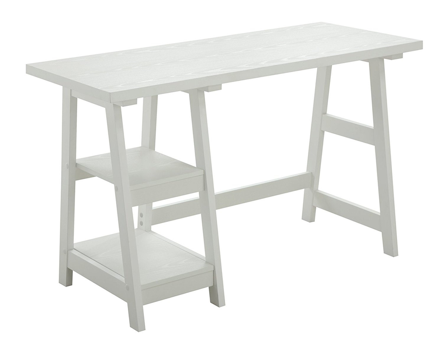 White Trestle Desk