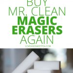 If you're stocking up your cleaning supplies closet, you really need to read this post about why you'll never buy Mr. Clean Magic Erasers for cleaning home again. You won't believe why!! It can be hard to know which house cleaning supplies will work best, and this post will help you with cleaning home ideas for cleaning the home!