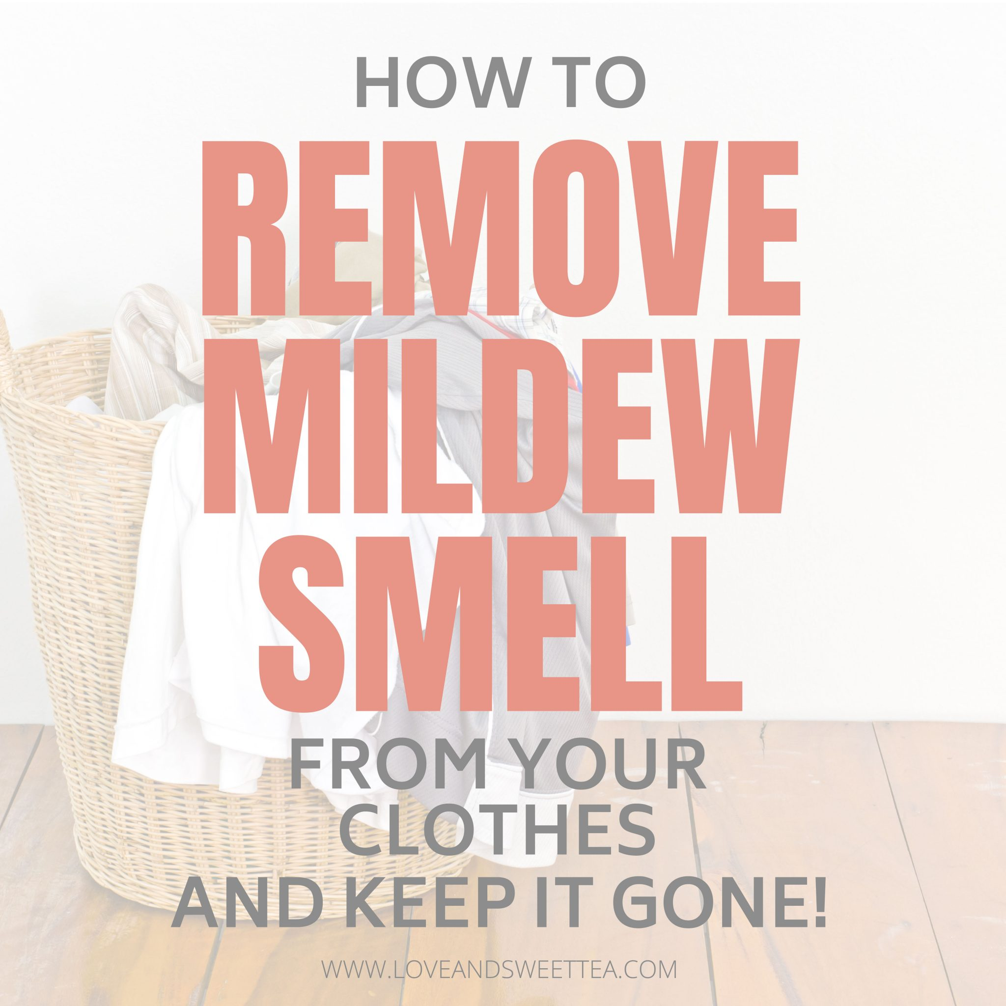 how to take mildew smell out of clothes