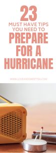 Great tips for how to prepare for a hurricane or emergency. Saving this for the next Irma or hurricane season to beef up my preparedness and my hurricane preparation.