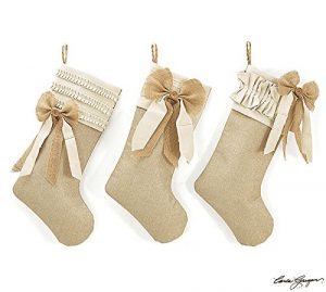 Burlap Bow Stockings