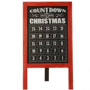 Christmas Calendar Chalk Board