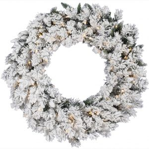 Snow Ridged Wreath