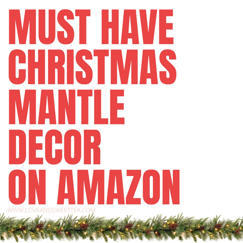 I'm definitely updating my mantle this year. Did you know you could find all these adorable Christmas decor items on Amazon!