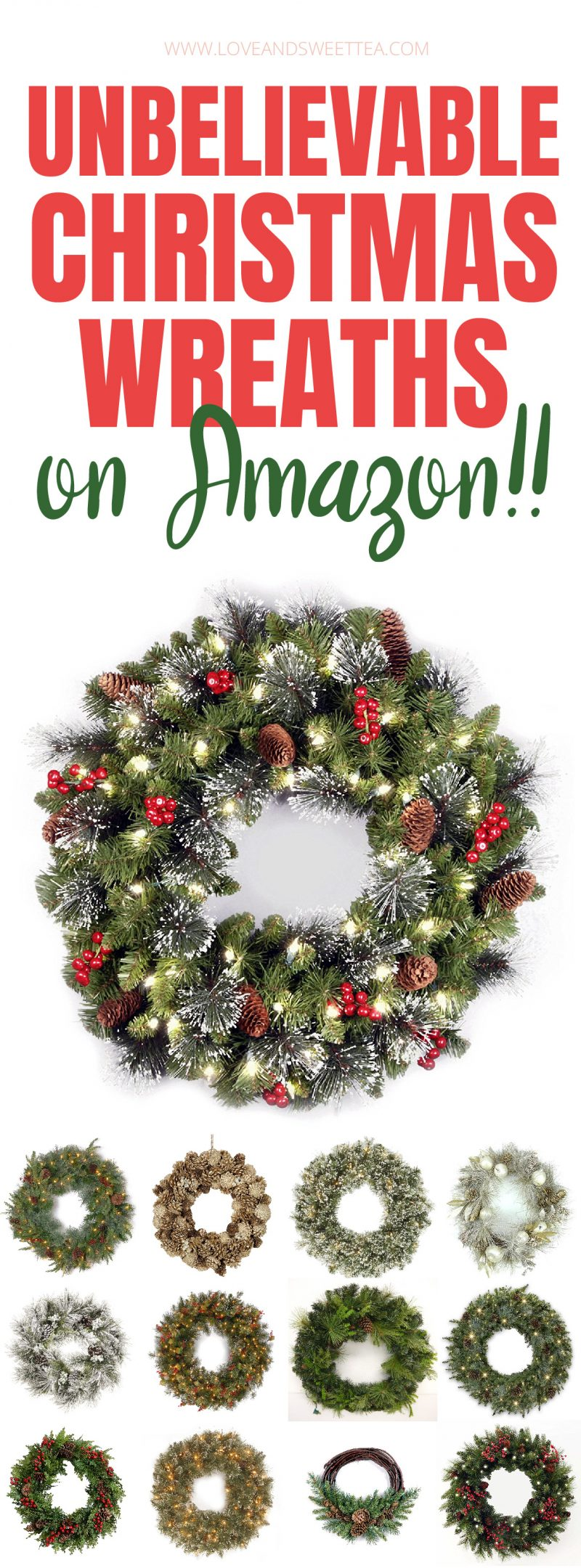 I'm going to get one of these Christmas wreaths from Amazon for my front door this year! They're gorgeous wreath ideas and save tons of time vs DIY Christmas wreaths! There are some gorgeous rustic, elegant and natural options here.
