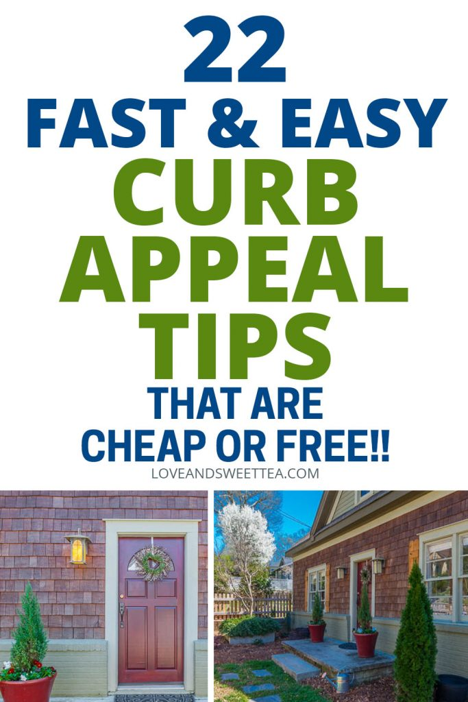 Sell your house for full price with these curb appeal and landscaping ideas for your front porch and front yard. These are easy DIY ideas to update your curb appeal on a budget.